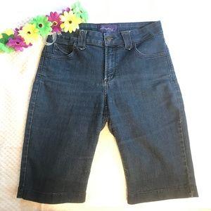 NYDJ   Bermuda Jean Roll Up Shorts